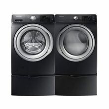 Samsung 4 5 cu  ft Front Load Washer   7 5 cu  ft  Electric Dryer with Steam in