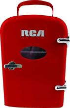 6 Can Mini Compact Refrigerator Cooler for Bedroom  Office or Dorm   Red