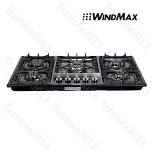 34 Titanium Stainless Steel 5 Burners Built In Stove LPG NG Gas Kitchen Cooktop