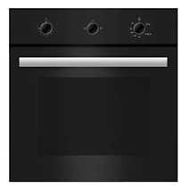 Empava 24  Tempered Glass Built in Single Gas Wall Oven 1800W Black