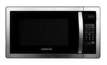 Farberware FMWO11AHTBKB 1000 Watt Microwave Oven  1 1 cu  ft  Stainless Steel