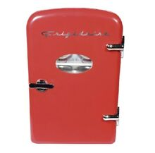 NEW   FREE SHIPPING   Frigidaire EFMIS129 Portable Retro 6 can Mini Fridge Red