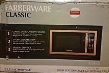 New Farberware Classic 1 1 Cubic Foot 1000 Watt Microwave Oven Copper Pick Up