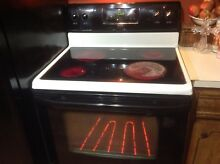 Kenmore Self Cleaning 4 Burner Glass Top Electric Range Stove Black And Tan