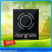 New Black High Quality Touch Control Single Electric Induction Cooker