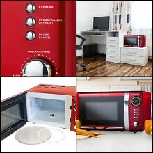 700 Watts Retro Countertop Microwave Oven  0 7 Cubic Foot Kitchen Cooking RED