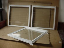 Whirlpool Refrigerator Glass Shelf Lot of 3 Part   2194281