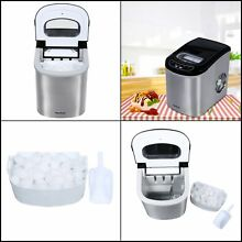 Portable Ice Maker Machine Stainless Steel Natural Outdoor RV Camping Vacation