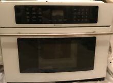 Jenn Air Built In Microwave Oven   30  JMC8130DDW   White w Silver Handle  EUC