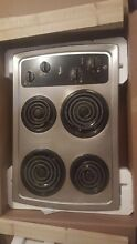 Whirlpool four burner Stainless steel electric Range Top
