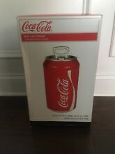 NIB Coca Cola Mini Can Fridge Refrigerator Coke Shaped 8 Can Cooler 110V   12V