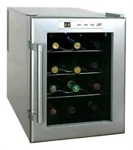 12 Bottle Wine and Beverage Cooler with Platinum Color Finish  ID 24266