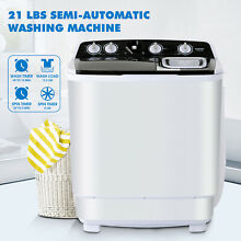 21 LBS Protable Mini Washing Machine Semi Automatic Compact Twin Tub Spiner Home