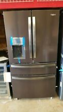Whirlpool 26 cu  ft  French Door Refrigerator in Black Stainless WRX986SIHV
