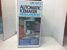 GE General Electric UK KIT 1 Automatic Ice Maker Installation Kit New In Box
