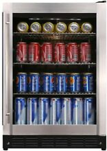 Magic Chef Beverage Cooler 154  12 oz  Can Soda Wine Beer Water Stainless Steel