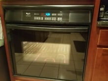 Whirlpool  30  Black Single Electric Wall Oven