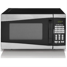 Hamilton Beach 0 9 Cu Ft 900W Microwave Stainless Steel Black