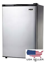 Compact Refrigerator 3 2 Cu Ft Mini Door Small Fridge Freezer Stainless Steel