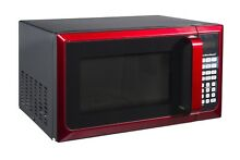 NEW Red Hamilton Beach 900 Watt Compact Kitchen Microwave Oven w  LED Display