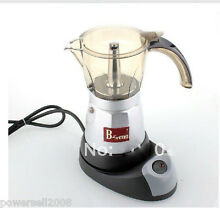 Aluminum Black Silver Automatic Electric Stovetop Coffee Maker Coffee Pot