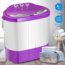Portable 9 9LBS Washing Machine Mini Compact Twin Tub Laundry Washer Spin Dryer