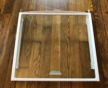 Kenmore  Whirlpool Refrigerator Snack Cover Glass Shelf 2223516 Spillguard