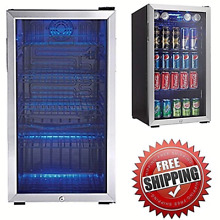 Mini Fridge Stainless Steel Beverage Chiller Best Rated Refrigerator NEW