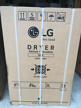 New LG Electronics 7 3 cu  ft  Gas Dryer with Turbo Steam in White