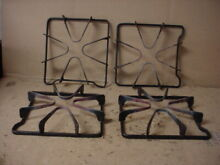 Whirlpool Range Burner Grate w  Some Wear Stains Lot of 4 Part   8053458