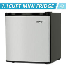 3 2 Cu Ft Stainless Steel 2 Door Mini Fridge Freezer Compact Refrigerator Silver