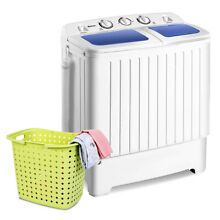Portable Washing Machine Mini Compact Twin Tub Washer with Spin Dryer 1300 RPM