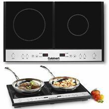 Two Burner Hot Plate For Cooking Electric Cooktop Stove RV 2 Range Induction Kit