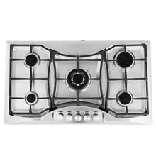 Empava 36  5 Italy Sabaf Burners Gas Stove Cooktop Stainless Steel