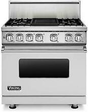 Viking Professional 7 Series 36 Inch Pro Style Dual Fuel Range VDR7364GSS Images