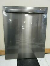LG Dishwasher Outer Door w  Handle  Black  Stainless  ACQ85830211  ASMN