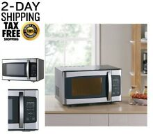 Hamilton Beach 1 1 Cu  Ft  Microwave Oven  Stainless Steel
