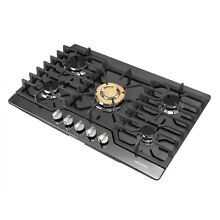 Brand Black Titanium Gold 30  Built in 5 Burners Cooktop Stove LPG NG Gas Hob