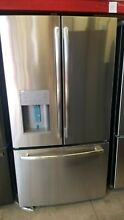 GE 36  25 6 cu ft Stainless Energy Star Ice French Door Refrigerator GFE26JSMSS