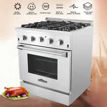 Thor 30 Gas Range Cooktop Oven HRG3080U 1 Stainless Steel Sealed 4 Burner