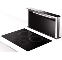 Faber SCLX3615BKNB B Scirocco Lux Stainless Steel   Glass Raised Vent Downdraft