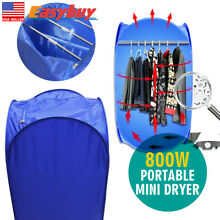Blue Air Dry Mini Portable Electric Clothes Fast Dryer Bag 110V 220V 800W Gift