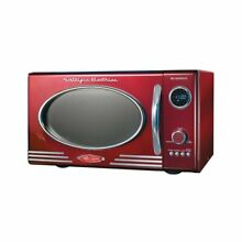 Nostalgia RMO400RED Retro 0 9 Cubic Foot Microwave Oven