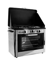 Outdoor Camp Oven Black Silver 31  H x 24  W x 18  L   Internal Oven 400 Degrees