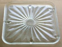 Recycled Microwave Oven Glass Plate   Tray 15 5 8 X 15