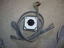 USED   Universal 3 Prong Range Oven Dryer Power Cord   Receptacle 4  30A   GE LG