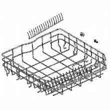 Electrolux Frigidaire OEM A00241305 Dishwasher Lower Rack Assembly