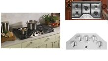 GE 36  Built In Gas Cooktop in Stainless Steel with 5 Burners Power Boil Burne