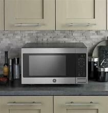 GE JES1657SMSS 1 6 Cu  Ft  Stainless Steel Countertop Microwave