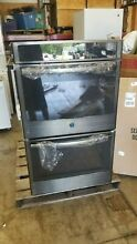 GE JT5500BLTS 30  Black Stainless Electric Double Convection Wall Oven